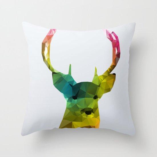 Glass Animal - Deer head Throw Pillow