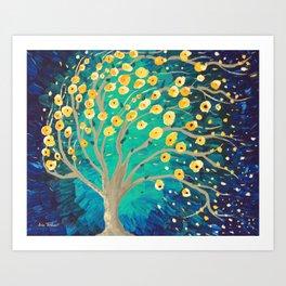 Lemony Blossoms - Tree Art Print