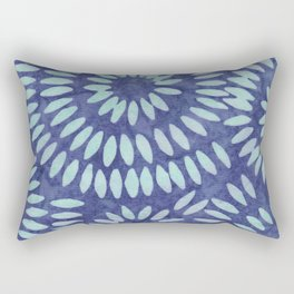 Blue Batik 04 Rectangular Pillow