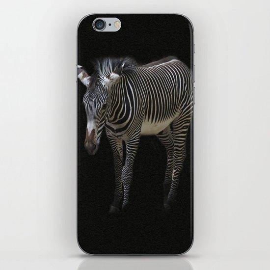 Black and White on Black iPhone Skin