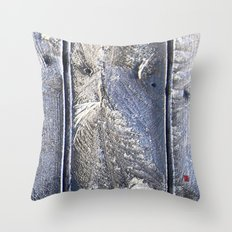 Frost Owl Throw Pillow