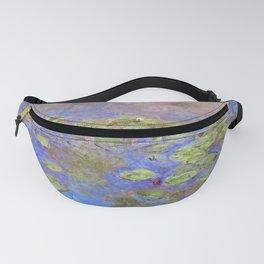 Water Lillies - Claude Monet (indigo blue) Fanny Pack