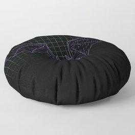 Neon Bat Floor Pillow