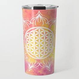 Flower Of Life (Batik 6) Travel Mug