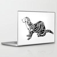 ferret Laptop & iPad Skins featuring Ferret Design by Tara Prince