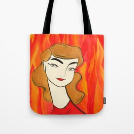 Fire Sign Tote Bag