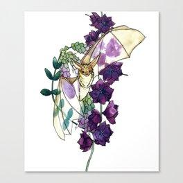 Birthday Floral Bat Canvas Print