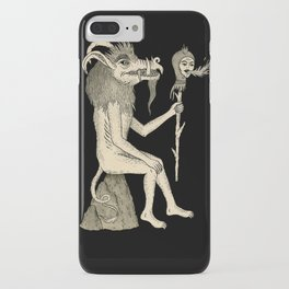 Creature Holding Sceptre iPhone Case