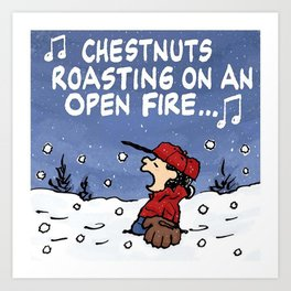 Snoopy - Chestnuts Art Print