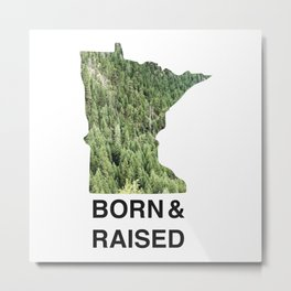Minnesota - Born & Raised Metal Print