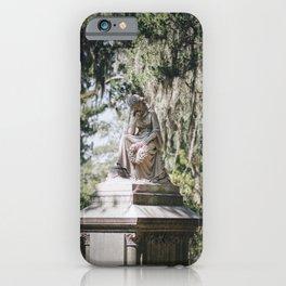 Bonaventure Cemetery - Statue of Eliza Wilhelmina Theus III iPhone Case