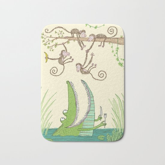 'Dinner time!' Bath Mat