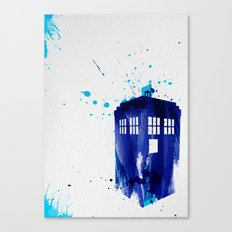 Doctor Who TARDIS Canvas Print