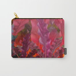 """Pink Sci-fi Tropical Jungle"" Carry-All Pouch"