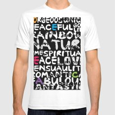love words MEDIUM White Mens Fitted Tee