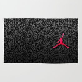 Textured Red Logo Rug