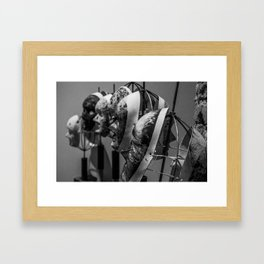 Behind the masks Framed Art Print