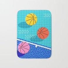 All Day - basketball sports memphis retro throwback neon trendy colors athletic art design Bath Mat