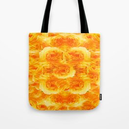 MODERN  GOLDEN ROSES FLOWERS CARPET Tote Bag