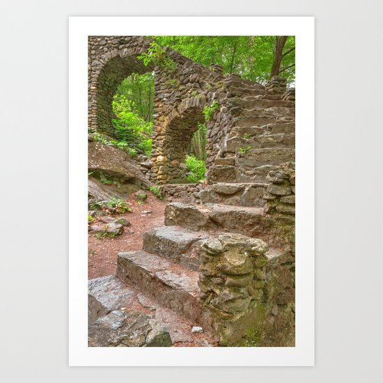 Forest Castle Ruins Art Print