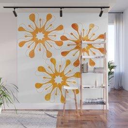 Flora Dora Golden Wall Mural