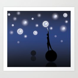 The dark is necessary to see the stars... Art Print