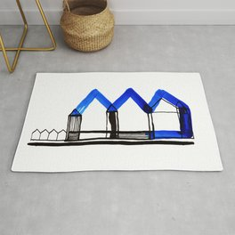 Houses in Blue No.: 02 Rug