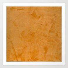 Orange Stucco Art Print