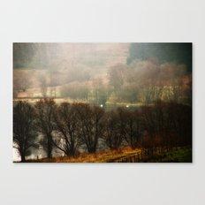 Foggy Morning on Carbeth Loch Canvas Print