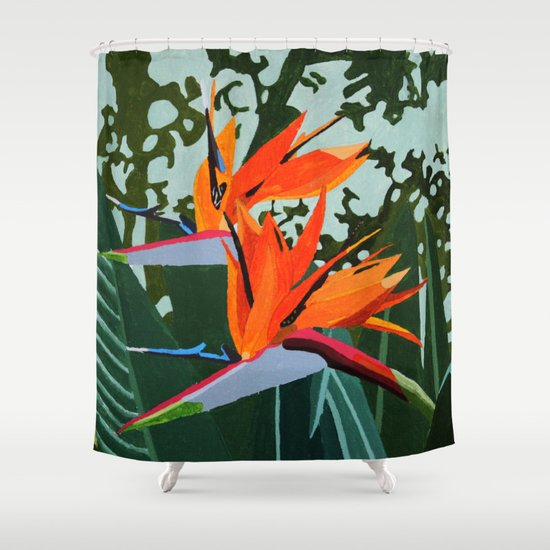 Strelitzia Bird Of Paradise Shower Curtain By Marjolein Society6