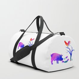 Pigs on the farm Duffle Bag