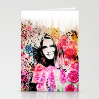 emily rickard Stationery Cards featuring Emily by Michael Egorkin