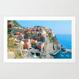 Italy. Cinque Terre - Cliffside Art Print