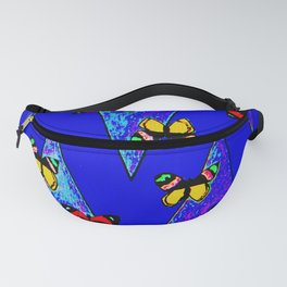 Bright Butterfly Pattern Print Fanny Pack
