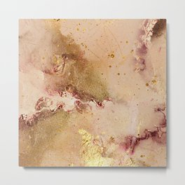 Decorative Watercolor Modern Abstract Artistic Metal Print