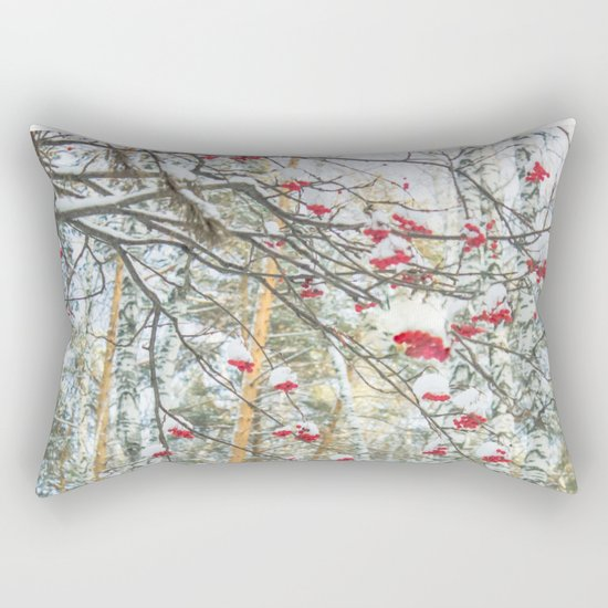 Winter Rowan and birchs Rectangular Pillow
