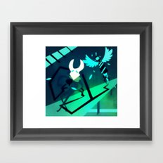 Even Black Hearts Shine Framed Art Print