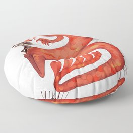 The Warrior and the Worm Floor Pillow