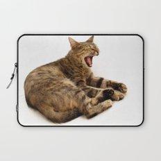 Yawning Cat Laptop Sleeve