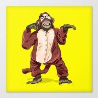 onesie Canvas Prints featuring Monkey Onesie by Alex Terry