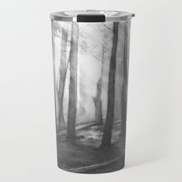 """""""Soothing Place"""" - pencil drawing of the dark forest Travel Mug"""