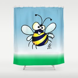 Bumbling Bee Shower Curtain