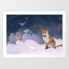 Fox Heaven Art Print