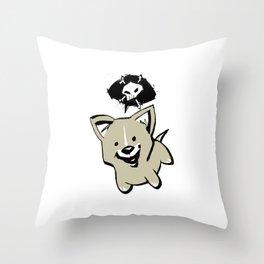 minima - ski-doo Throw Pillow