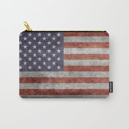 USA flag, High Quality retro style Carry-All Pouch