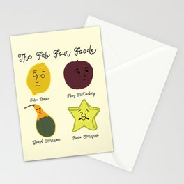 The Fab Four Foods Stationery Cards