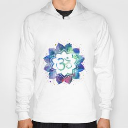 Om Sign Lotus Flower Hoody