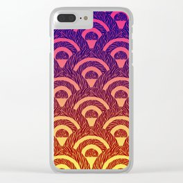 Rising and Setting sun Clear iPhone Case