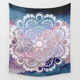 Night Clouds Watercolor Mandala Celestial Meditation Charm Wall Tapestry