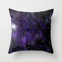 space jam Throw Pillows featuring Jam Nebula by Erin McClain Studio